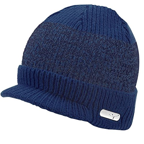 Mizuno 2016 M15 Peaked Golf Beanie Thermal Winter Warm Knitted Mens Golf Hat Patriot Blue