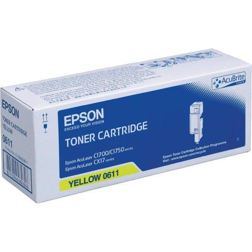 Epson C13S050611 AL-C1700 Tonerkartusche gelb hohe Kapazität 1.4k