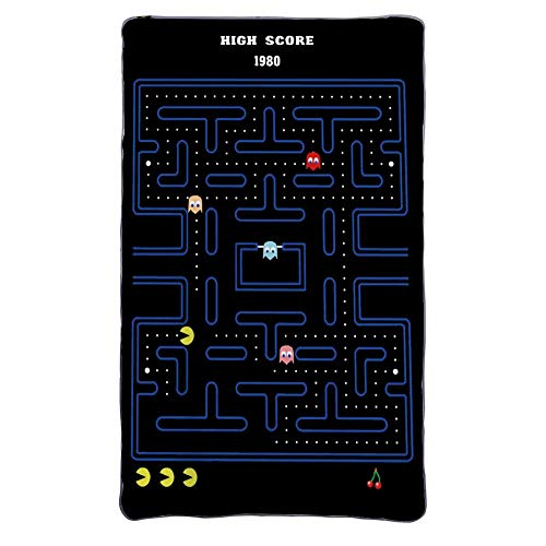 "Mesllings Pacman Manta de franela de forro polar, acogedora, cálida, ligera, para sala de estar al aire libre, viajes Talla:58"" x 80""Inches"