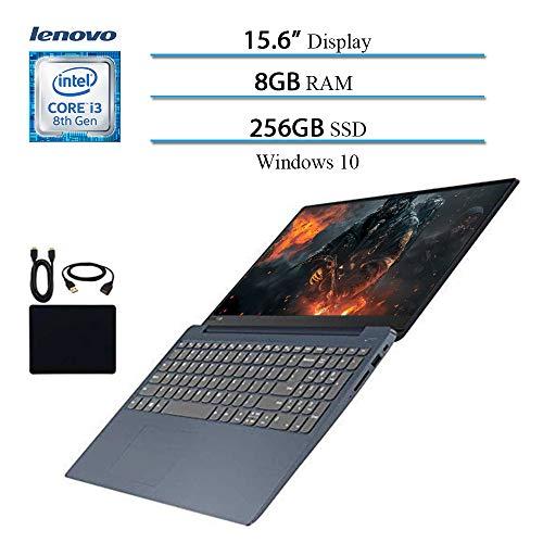 2019 ILenovo IdeaPad 330 15.6' Laptop Computer, 8th Gen Intel Core i3-8130U Up to 3.4GHz (Beat i5-7200U), 8GB RAM, 256GB SSD, Wi-Fi, Bluetooth, Webcam, HDMI, Windows 10 (Blue) w/Accessories