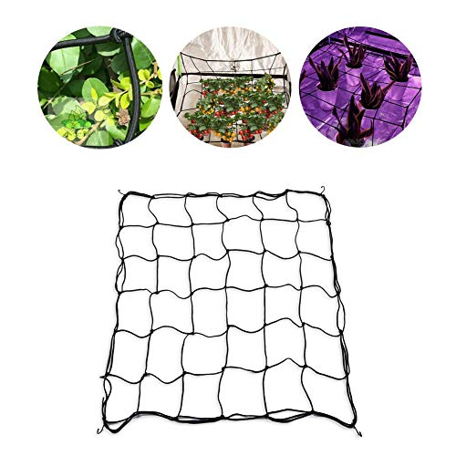 soundwinds Pflanzengitter Flexibles, elastisches Gitternetz für Grow Tents Garden Rankenpflanze Blumen Gemüse Kletterpflanze Stütznetz mit 4 Stahlhaken Beliebige Abmessungen