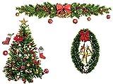 JYHZ Decoraciones de Navidad, engomadas de la Pared de Navidad, decoración del hogar Pegatinas, Etiquetas de Navidad Linda de la Ventana, Navidad Decoración de Fiesta, Regalos para los niños