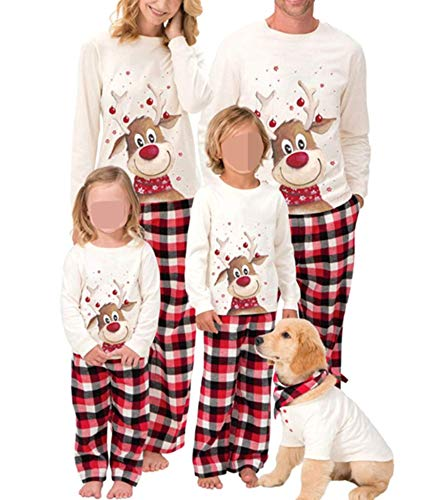 Family Christmas Pjs Matching Sets Baby Christmas Matching Jammies for Adults and Kids Holiday Xmas Sleepwear Set (A Style , Mom/Small )