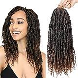 Bomb Twist Crochet Hair 6 Packs Spring Twist Hair Prelooped Crochet Braids Synthetic Hair Extension Passion Twist Mini Twist Hair dreadlocks Braiding Hair for Women 14inch T30