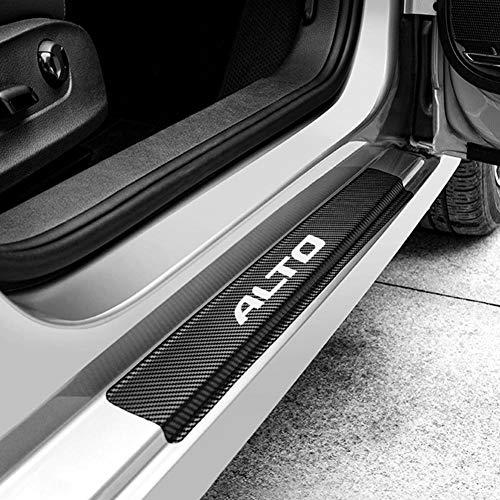 WQSNUB 4PCS Car Door Threshold Scuff Plate Guards Stickers Auto Carbon Fiber Scratch Protector,For Suzuki Alto