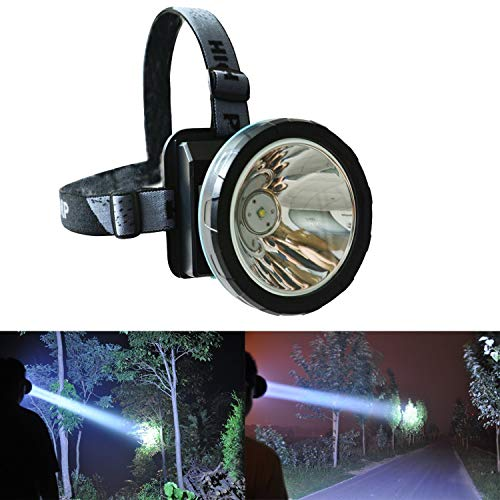 Odear Super Bright Linterna frontal recargable LED foco con batería alimentada faro para caza camping pesca