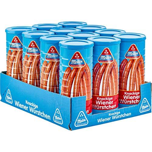 12 Dosen a 330g Metten Wiener Würstchen Bockwurst Made in Germany je 6 Würtschen je Dose