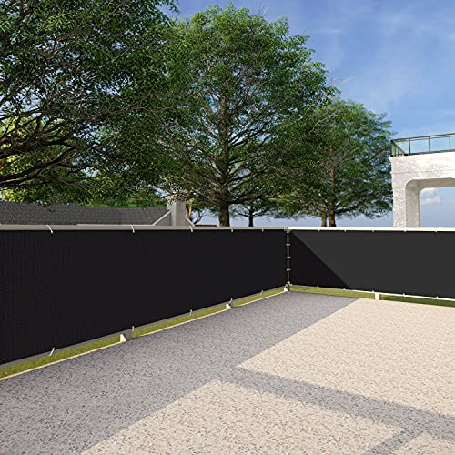 Patio Deck Privacy Screen 3' x 25' Perfect for Outdoor,Backyard, Balcony,Pool,Porch,Railiing,Gardening,Fence Shield Rails Protection Black -Custom