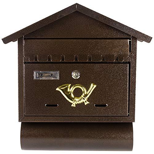 Mailbox Retro Outdoor ijzeren muur gemonteerde Letter Box Creative Ideeënbus Brievenbus (Color : As Shown, Size : 31x9.5x40.5cm)