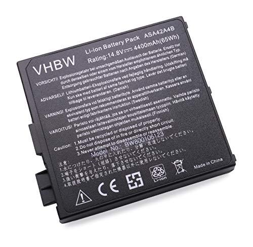 Batterie vhbw 4400mAh (14.8V) pour Ordinateur Portable, Notebook ASUS A4, A4000. Remplace: 70-N9X1B1000, 90-N9X1B1000, A42-A4.