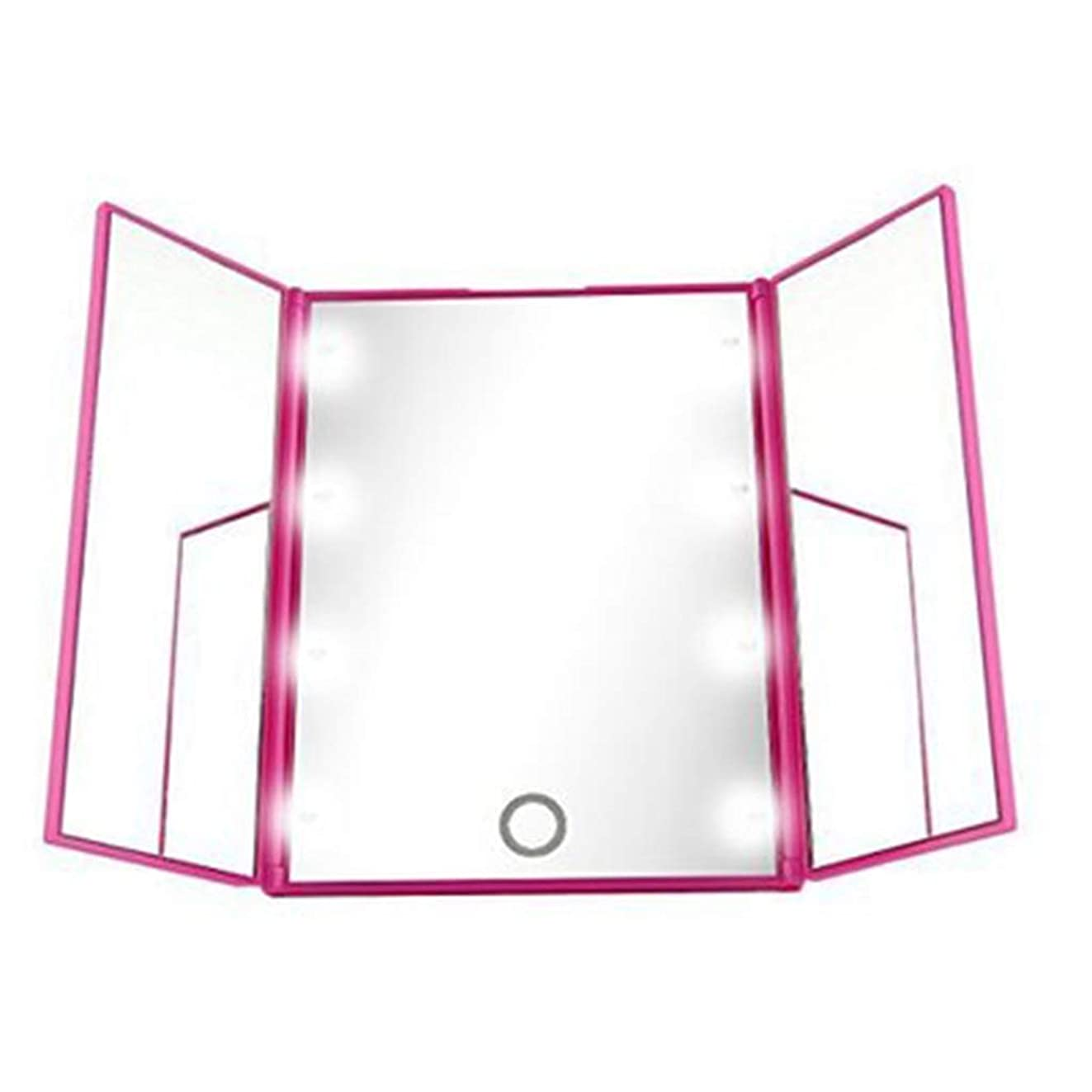 浸透する約不十分洗面化粧台ミラー 照らされたLEDの虚栄心ミラーはタッチ画面のつけられた化粧台ミラーの浴室ミラーをつけます 化粧鏡 (Color : Pink)