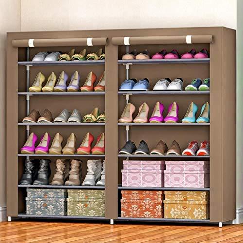M-YN Zapatero 6-Tier Shoe Rack de Almacenamiento, Zapato Organizador, Zapato de Tela Shelf Permanente gabinete, for 36 Pares de Zapatos con Prueba de Polvo de la Cubierta (Color : D)