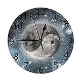 GOSMAO Reloj de Pared,Símbolo de Yin Yang de la armonía, Reloj de Escritorio Decoración...