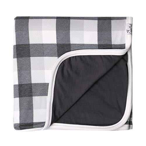 """Large Premium Knit Baby 3 Layer Stretchy Quilt Blanket""""Hudson"""" by Copper Pearl"""