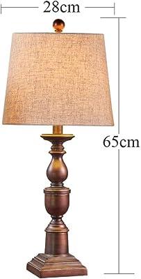 Amazon.com: CCSUN - Lámpara de mesa, cálida, con sombra de ...