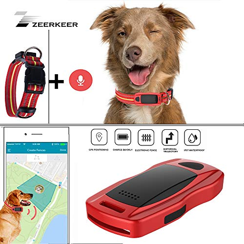 ZEERKEER Pet GPS Tracker, Dog GPS Tracking and Pet Finder, The GPS Dog Collar Attachment, Locator...