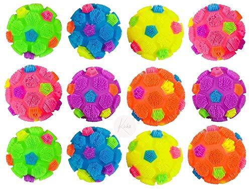 Kicko Bolas de fútbol – Paquete de 12 pelotas de compresión de 4.5 pulgadas surtidas, regalos de fiesta y recompensas, juguetes...