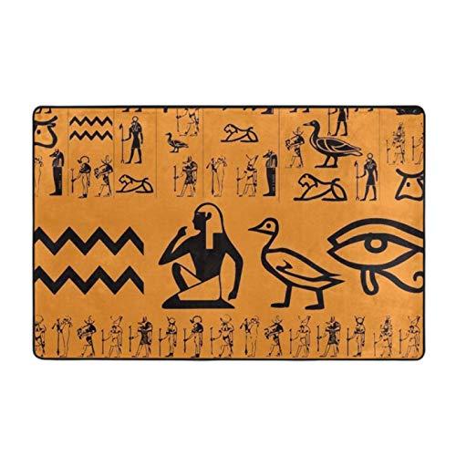 N/A Alfombra Moderna para decoración del hogar, Alfombra de área de Recorte del Antiguo Egipto, Alfombra para Ganar y Juguete, Alfombra para Gatear de guardería para niños Decoracion hogar 20'x32'