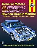 GM Cadillac El Dorado, Seville, Deville, Buick Riviera and Oldsmobile Toronado, 1986-1993: All Full-Size Models 2WD and (Haynes Manuals)