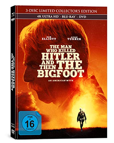 The Man Who Killed Hitler and Then The Bigfoot - 3-Disc Limited Collectors Edition im Mediabook (4K Ultra HD/UHD) (+ Blu-ray 2D) (+ DVD)