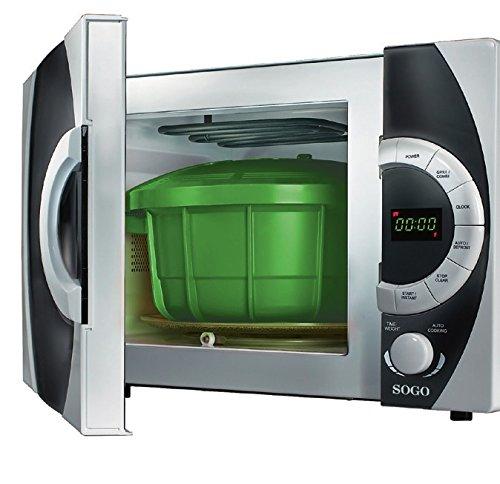 SOGO Olla a Presión, Especial para el microondas, Cocinar al Vapor, Vaporera, 31 cm