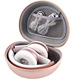 Headphone Case for Picun P26 / Beats Solo3 / 2 / iJoy Matte/Elecder i39 On-Ear Headphones More Foldable Bluetooth Wireless Headset (Extra Large) - Rose Gold