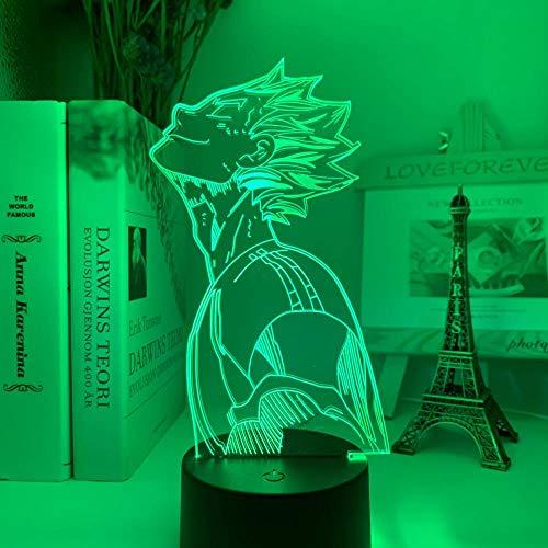 3D Nachtlicht 3D Nachtlicht Anime Haikyu Bokuto Licht für Schlafzimmer Dekor Kind Kindergeburtstag Geschenk Manga Gadget Kotaro Bokuto Lampe Haikyuu ASQWZX