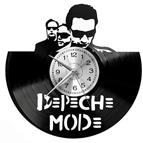 Depeche Mode Wanduhr Uhr Vinyl Schallplatte Retro-Uhr groß Uhren Style Raum Home Dekorationen Tolles Geschenk Decor Raum Inspirierende Wand Vinyl Record Kovides Vinyl Home