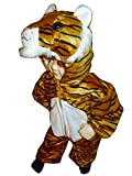 Ikumaal F14 Tamaño 2-3 años Disfraz de Tigre para los niños pequeños y los niños, cómodo de Llevar en la Ropa Normal