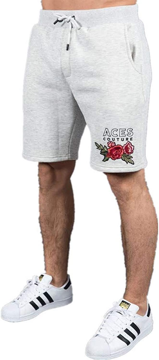 TOPDCO Mens Bodybuilding Shorts Over Knee Gyms Fitness Slim Fit Workout Cotton Male Fashion Casual Shorts Men