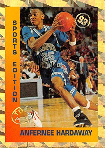 Anfernee Hardaway basketball card (Memphis Tigers, Penny) 1993 Sports Edition Gold Foil Top Picks Refractor Rookie
