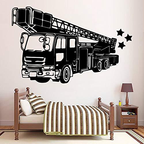 Yaonuli ladder vrachtwagen  wandtattoo decoratie mode sticker voor kinderkamer sticker wandafbeelding slaapkamer muursticker