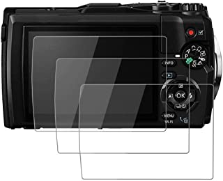 PCTC Tempered Glass Films Compatible for Olympus Tough TG-5 tg-5 (3 Packs)