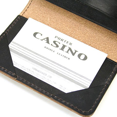[ポーター]PORTERCASINOカジノ名刺入れカードケース214-04623(ブラウン)