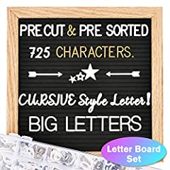 💥PRE-CUT AND PRE-SORTED letters, numbers, special characters and emojis are made of durable plastic and have been sanded smooth to ensure crisp, clean appearance and even spacing. All letters are sorted and placed in a convenient partition box with a...