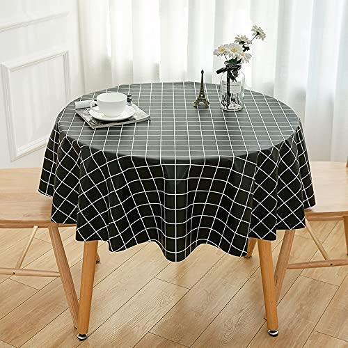LIUJIU Mantel rectangular de vinilo, impermeable, a prueba de aceite, a prueba de derrames, mantel de PVC, para mesa de comedor, bufé y camping, 90 x 90 cm