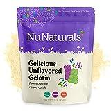 Best Organic Gelatins - NuNaturals Premium Unflavored Beef Gelatin Powder, 1 Pound Review
