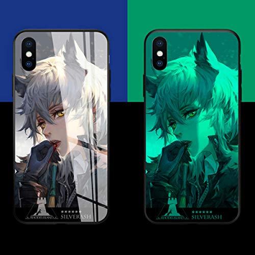 Carcasa de Telefono,Funda Protectora para iPhone Funda para Teléfono 3D Carcasa de Vidrio Templado Brillo Nocturno Antifricción Anime Moda Personalidad (Compatible con iPhone 11 Pro MAX)