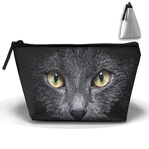 Black Cat Sac de rangement de maquillage portable Grande capacité Sac de voyage