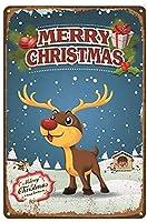 クリスマスヴィンテージスタイルメタルサインアイアン絵画屋内 & 屋外ホームバーコーヒーキッチン壁の装飾 8 × 12 インチ