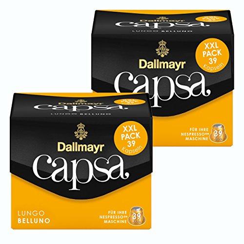 Dallmayr Capsa Lungo Belluno XXL, Nespresso Kompatibel Kapsel, Röstkaffee, Kaffee, 78 Kapseln á 5.6 g
