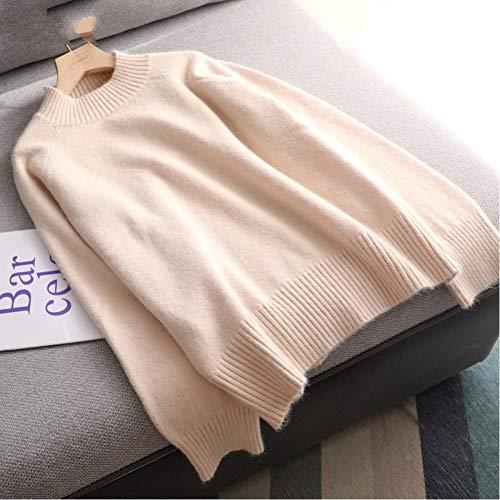 Suéter Cálido para Mujer Otoño E Invierno Suéter De Lana Gruesa Tallas Grandes Jersey Suelto Elegante para Mujer