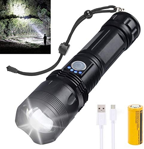 Rechargeable Led Flashlight 10000 Lumens Super Bright Flashlights High Lumens tactical Flashlights product image