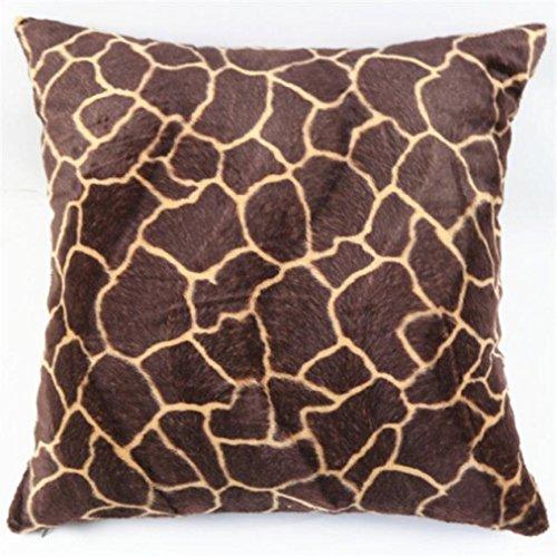hunpta Animal Zebra Leopard Print Pillow Case Sofa Waist Throw Cushion Cover Home Decor (A)