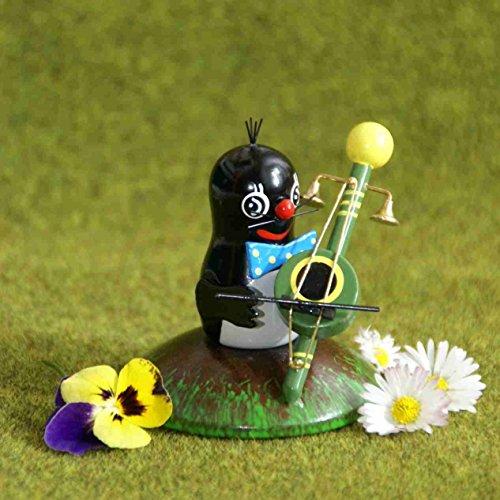 Rudolphs Schatzkiste Sammelfigur Maulwurf mit Teufelsgeige Höhe ca. 7cm NEU Ganzjahresfigur Miniatur Orchester Geige Instrument Bigband