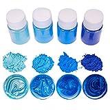 bhty235 resina epoxi color – 4 unidades / Set Mixed Color Resin joyas DIY Making Craft Glowing Powder Leuchtpigment Set Cristal Epoxidmaterial