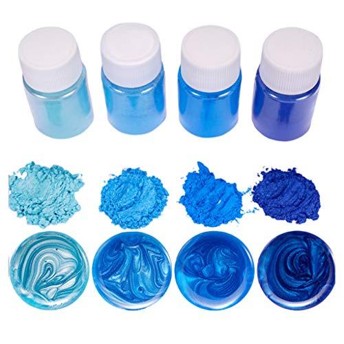 XXguang 4-delig/set gemengde kleuren hars sieraden DIY maken handwerk gloeiende poeder oplichtend pigment set kristal epoxymateriaal