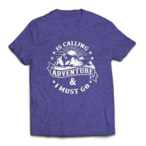 lepni.me Heren T-Shirt is Calling Adventure - Familie Vakantie Kleding, Berg Wandelen