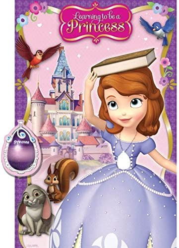 precios bajos todos los dias Sofia the First Pin the the the Tail Game - Birthday and Theme Party Supplies by SmileMakers  tienda en linea