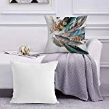 Funda de Cojín Funda de Almohada del Hogar Tipos Vaned y Natal Contour Flight Bird Feathers y Animal Skin Element Print,Square Soft and Cozy Pillow Covers,